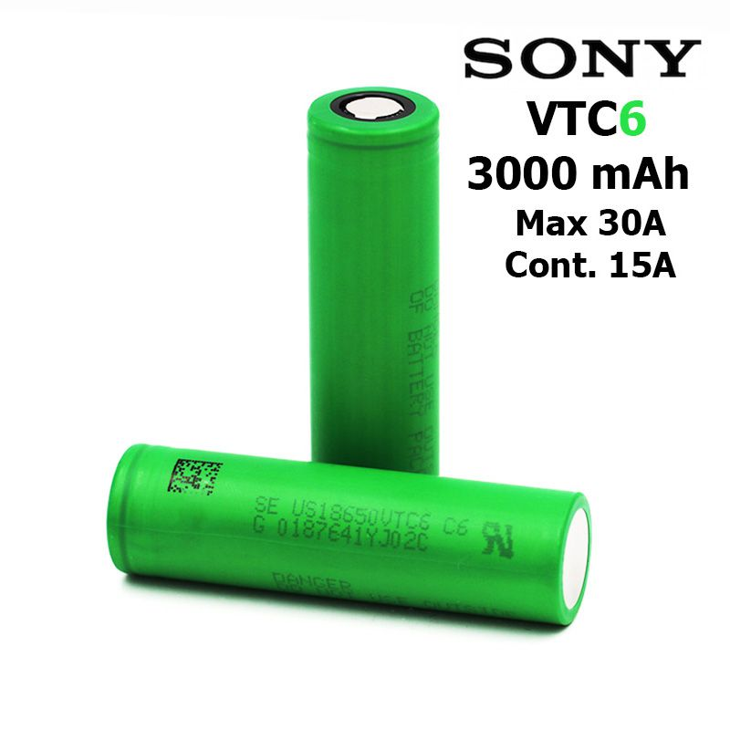 2/4Pcs For SONY VTC6 VTC4 Battery 3000mAh 3.7V Li-ion Rechar